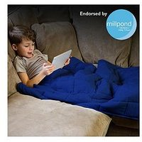 Product photograph showing Rest Easy Sleep Better Weighted Blanket In Blue Ndash 3 Kg Ndash 90 X 120 Cm
