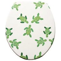 Product photograph showing Aqualona Turtles Wooden Toilet Seat