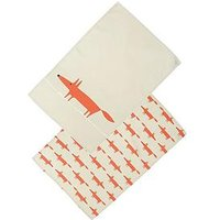 Product photograph showing Scion Mr Fox Set Of 2 Tea Towels