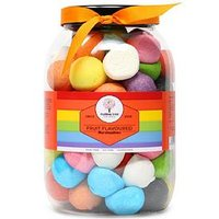 Product photograph showing Mallow Tree Assorted Flavoured Marshmallows In A Gift Jar 600g