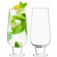 Product photograph showing Lsa International Rum Handmade Mixer Glasses Ndash Set Of 2