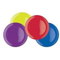 Product photograph showing Colourworks Brights Melamine Dinner Plates Ndash Set Of 4