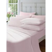 Product photograph showing Catherine Lansfield Soft N Cosy Brushed Cotton Extra Deep Single Fitted Sheet - Pink