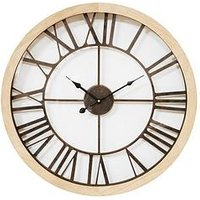 Product photograph showing Round Wall Clock With Cut-out Dial