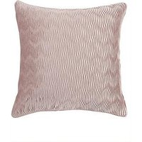 Product photograph showing Velvet Wave Cushion - Pink