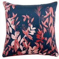 Product photograph showing Michelle Keegan Home Floral Velvet Cushion