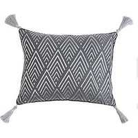 Product photograph showing Art Deco Embroidered Boudoir Cushion