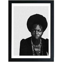 Product photograph showing East End Prints Nina Simone By Studio Cockatoo A3 Framed Wall Art