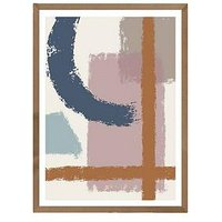Product photograph showing East End Prints Abstract Simple Living A3 Framed Print