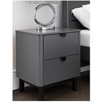 Product photograph showing Julian Bowen Chloe 2 Drawer Bedside