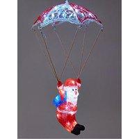 Product photograph showing Festive Light-up Parachuting Santa