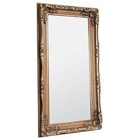 Product photograph showing Gallery Carved Louis Gold Leaner Full Length Mirror