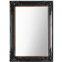 Product photograph showing Gallery Harrelson Antique Black Wall Mirror