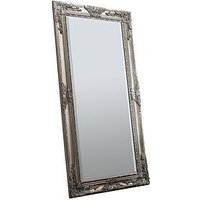 Product photograph showing Gallery Hampshire Silver Leaner Full Length Mirror