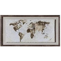 Product photograph showing Gallery Gold Foil World Map Framed Art