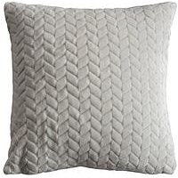 Product photograph showing Gallery Embossed Chevron Cushion