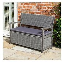 Product photograph showing Rowlinson Alderley Rattan Storage Bench