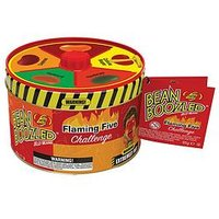 Product photograph showing Jelly Belly Jelly Bean Boozled Flaming Five Spinner Tin Of Chili Flavoured Jelly Beans 95g