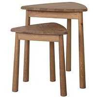 image-Hudson Living Wycombe Nest Of Tables- Oak