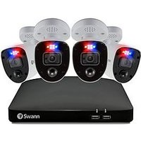 Product photograph showing Swann Smart Security Cctv System 8 Chl 4k 2tb Hdd Dvr 4 X Pro 4k Enforcer Camera Works With Alexa Google Assistant Amp Swann Security - Swdvk-856804rl-eu