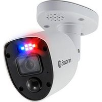 Product photograph showing Swann Smart Security 4k Enforcer Led Flashing Light Bullet Style Add On Analogue Cctv Camera Twin Pack - Swpro-4krlpk2-eu