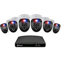 Product photograph showing Swann Smart Security Cctv System 8 Chl 1080p 1tb Hdd Dvr 6 X Pro Enforcer Camera Works With Alexa Google Assistant Amp Swann Security - Swdvk-846806sl-eu