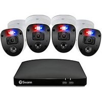 Product photograph showing Swann Smart Security Cctv System 8 Chl 1080p 1tb Hdd Dvr 4 X Pro Enforcer Camera Works With Alexa Google Assistant Amp Swann Security - Swdvk-846804sl-eu
