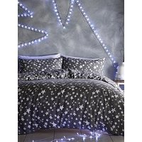 Product photograph showing Silentnight Stars Brushed Cotton Duvet Cover Set