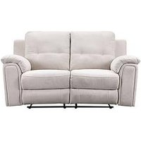 Product photograph showing Hugo 2 Seater Manual Recliner Sofa