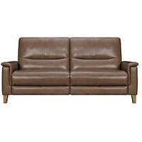Product photograph showing Harlow Leather 3 Seater Power Recliner Sofa