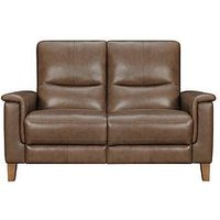 Product photograph showing Harlow Leather 2 Seater Power Recliner Sofa