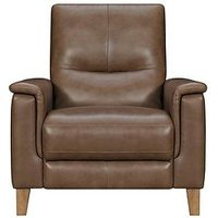 Product photograph showing Harlow Leather Power Recliner Armchair