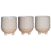 Product photograph showing Sass Belle Sass Belle Set Of 3 Japandi Mini Planters