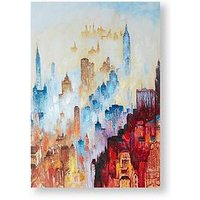 Product photograph showing Graham Brown City Of Dreams Printed Canvas With Handpaint Detail