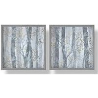 Product photograph showing Graham Brown Set Of 2 Whimsical Woods Framed Print With Metallic