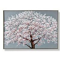 Product photograph showing Graham Brown Cherry Blossoms Printed Framed Canvas With Handpaint Detail