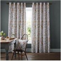 Product photograph showing Ashley Wilde Emily Ochre Eyelet Curtains
