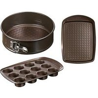 Product photograph showing Pyrex Baking Tray Spring Form Tin And Muffin Tray Baking Set