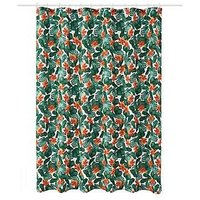 Product photograph showing Aqualona Tropical Leaf Shower Curtain