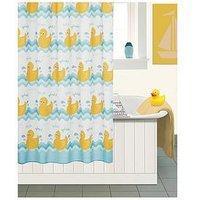 Product photograph showing Aqualona Ducks Shower Curtain