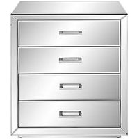 Product photograph showing Elegance Mirror 4 Drawer Chest