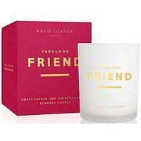 Product photograph showing Katie Loxton Sentiment Candle Fabulous Friend Sweet Papaya And Hibiscus Flower 160g