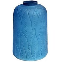 Product photograph showing Arthouse Blue Leaf Glass Vase