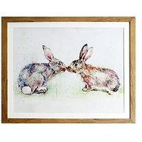 Product photograph showing Arthouse Kissing Rabbits Framed Print