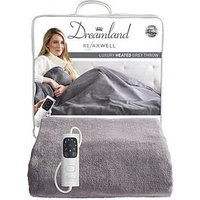 Product photograph showing Dreamland Relaxwell Luxury Heated Grey Throw