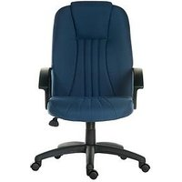 Product photograph showing Teknik Office Preston Fabric Office Chair - Blue