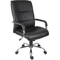 Product photograph showing Teknik Office Hayden Office Hayden Faux Leather Chair - Black