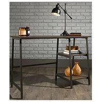 Product photograph showing Teknik Office Chester Industrial Style Bench Desk