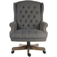 Product photograph showing Teknik Office Alba Executive Fabric Office Chair - Grey