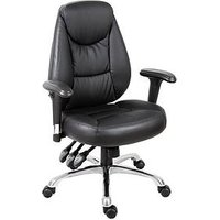 Product photograph showing Teknik Office Portside Faux Leather Office Chair - Black